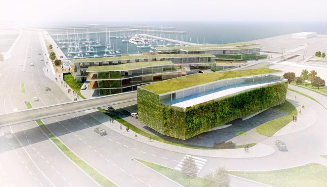 Schöne neue Hafenwelt: So soll der Club de Mar in Zukunft aussehen.