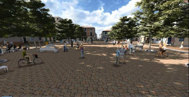So soll die Plaza de España in Andratx dem Projekt zufolge in Zukunft einmal aussehen.