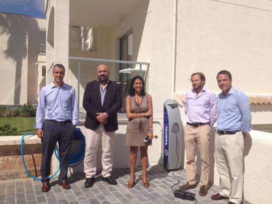 Präsentation der Aufladestation für Elektrofahrzeuge im Magic-Hotel Alcúdia.