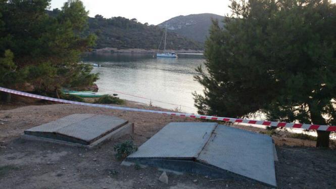 Das havarierte Abwassersystem auf Cabrea.