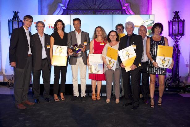 Die balearischen Hoteliers bei der Vergabe der diesjährigen Pämierung des Tui Holly Awards am vergangenen Wochenende im südspani
