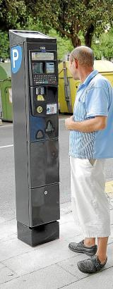 Der neue Parkscheinautomat in Palma de Mallorca.