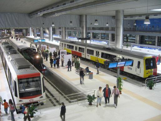 Die intermodale Metrostation in Palma: Am Montag kann man die Züge dort gratis nutzen.