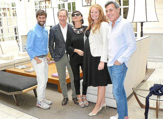Juan Vidal, Roberto Torretta, Lydia Delgado, Hafenchefin Corinna Graf und Angel Schlesser bei der Vorstellung des Events in Madr