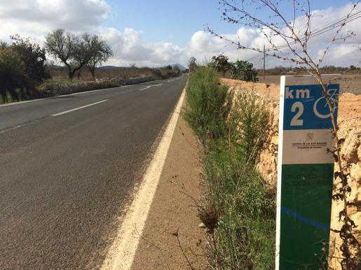 Soll verbreitert werden und einen Radweg bekommen. Die Straße von Algaída nach Pina.