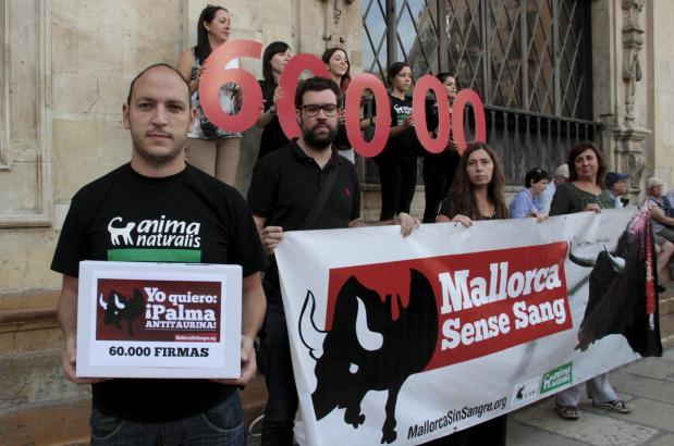 """""""Ich will Palma ohne Stierkampf"""", lautete der Leitspruch der Unterschriften-Kampagne."""