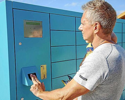 Schließfachsystem mit Fingerabdruck-Erkennung der deutschen Firma Metrico.