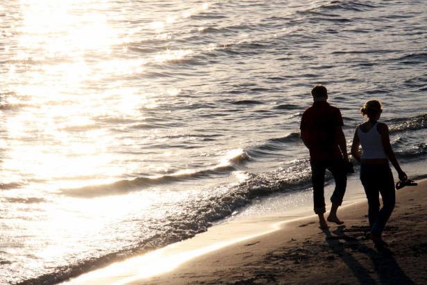 Oktoberstimmung an der Playa de Torà in Peguera.