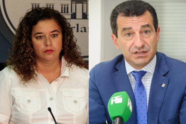 """Pilar Costa denkt nicht daran, Gabriel Company """"ein Küsschen"""" zu geben."""