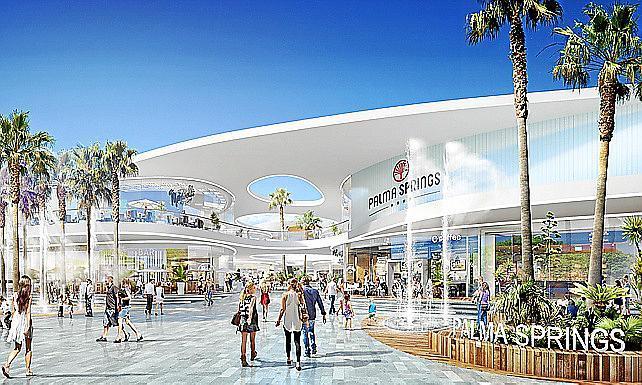 So soll es aussehen: Das Einkaufszentrum Palma Springs.