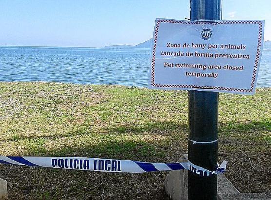 """Vorübergehend geschlossen: Der """"Hundestrand"""" in Pollença."""