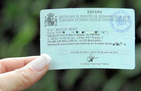 Der Eintrag im Register der EU-Bürger in neuer handlicher Größe.