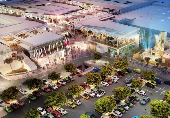 Das Einkaufszentrum S'Estada in Palma de Mallorca im Modell.