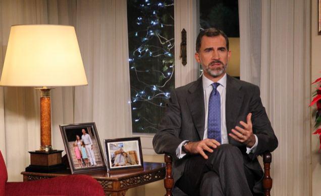 Felipe VI. bei seiner ersten Weihnachtsansprache als König von Spanien.