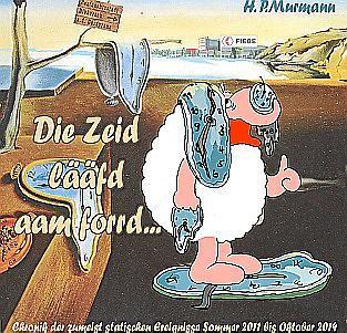 """Auf Hessisch: """"Die Zeid lääfd aam forrd ..."""" (""""Die Zeit läuft einem davon ..."""") heißt das neueste """"Hammlets""""-Buch von Hans Peter"""