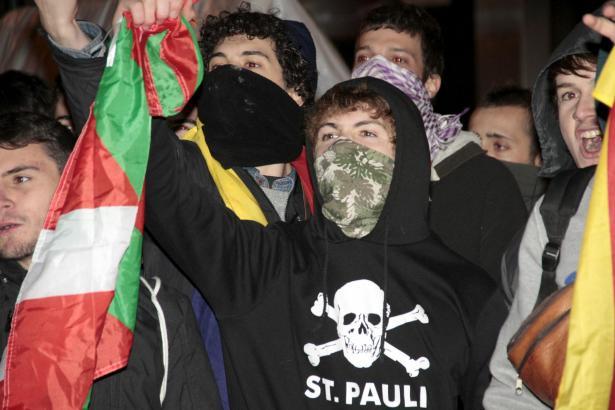 Auch Radikale hatten sich unter die Demo auf Mallorca gemischt. Es blieb aber friedlich.