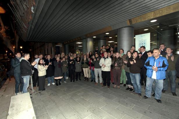 Mitarbeiter des Medienunternehmens Grup Serra, in dem die spanische Tageszeitung Ultima Hora und das Mallorca Magazin verlegt we