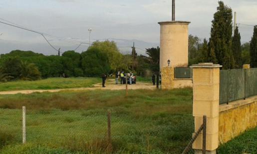 Polizeieinsatz bei S'Aranjassa auf Mallorca.