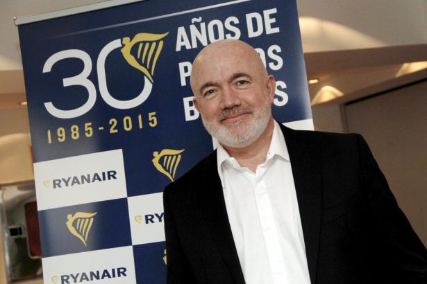 Ryanair-Vorstand David O'Brien bei seinem Medienauftritt in Palma de Mallorca.