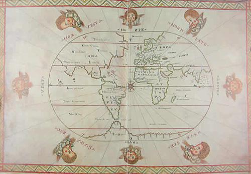 Eine der Landkarten von Bartomeu Oliva.