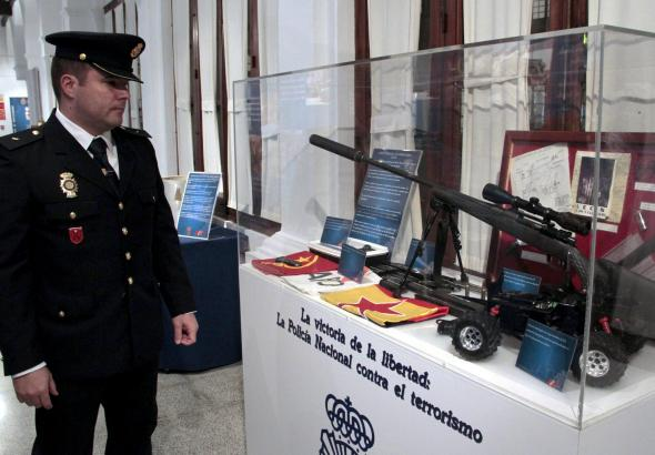 Das Gewehr, mit dem Juan Carlos getötet werden sollte.