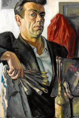 Ausdrucksstarke Gesichter kennzeichnen die Porträts von Josep Bover. Das gilt auch für die Selbstdarstellung des exzentrischen K