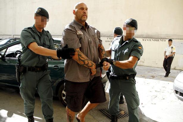 Frank Hanebuth bei seiner Festnahme im Juli 2013.