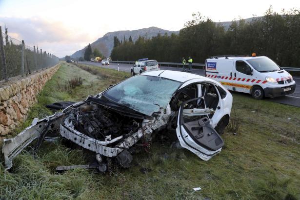 Vollständig zerstört: Der Focus des Unfallopfers.