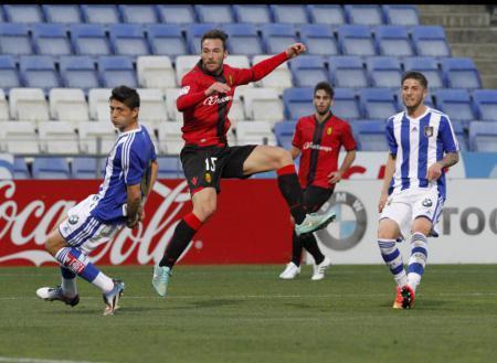 Xisco Jiménez (2.v.l.) traf gegen Osasuna zwei Mal.