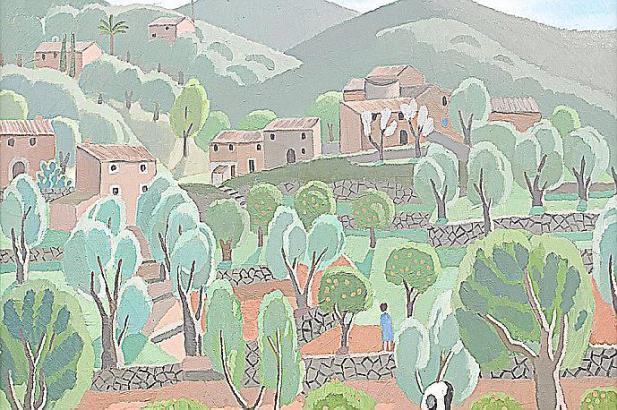 """Das Werk """"Paisatge"""" (1930), Öl auf Leinen von Juli Ramis."""