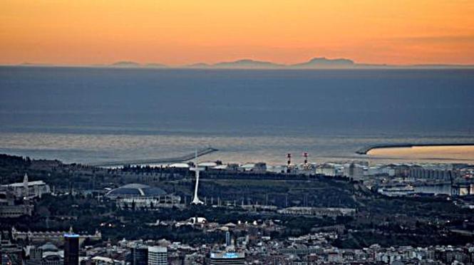 Mallorca am Horizont: Das Foto von Alfons Porta entstand am Montag, 2. März.