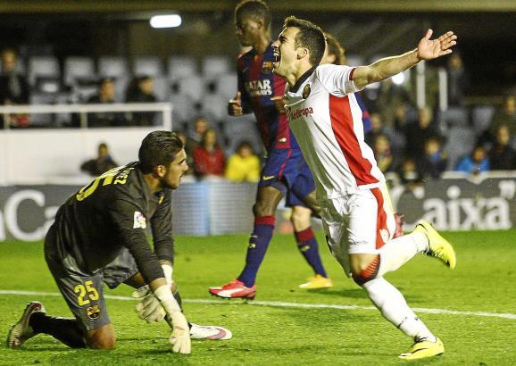 Tor für Real Mallorca! José Luis Moreno - genannt Joselu - feiert den Treffer lautstark.