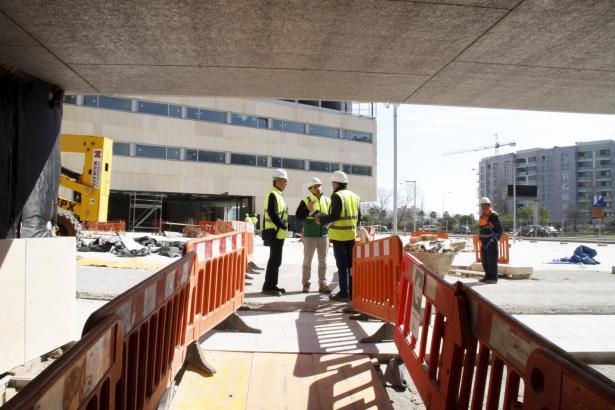 Im August sollen die äußeren Bauarbeiten am Kongresspalast fertig sein.