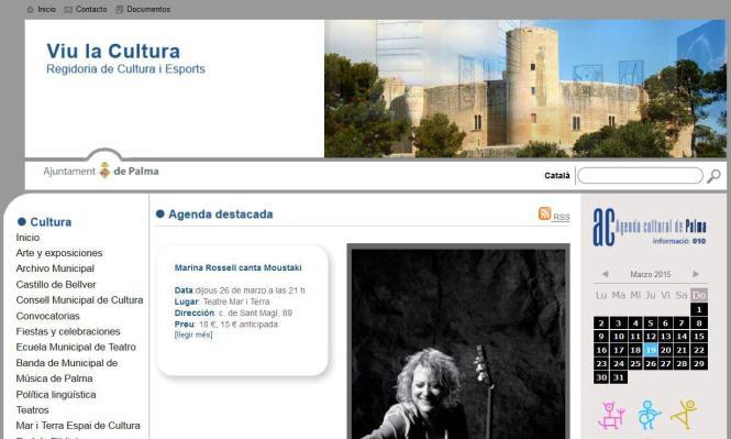 Die Kultur-Webpage der Stadt Palma zeigt sich wieder frei von Sexshops.