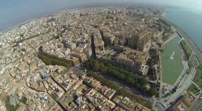 Luftaufnahme von Palma de Mallorca.