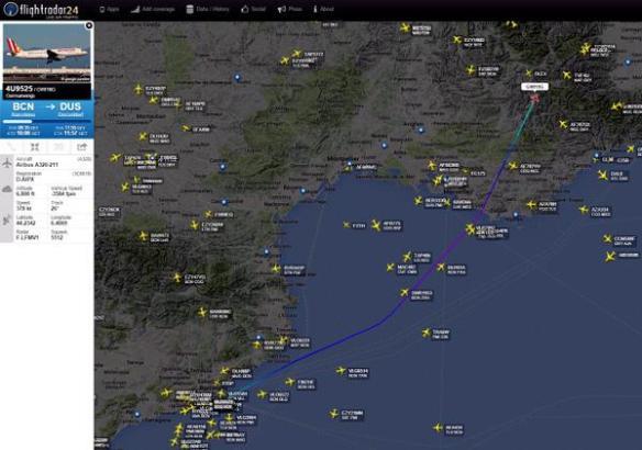 Das Flugzeug stürzte vermutlich bei Barcelonette in den französischen Alpen ab.