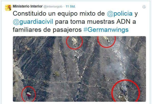 Der Tweet des spanischen Innenministeriums.