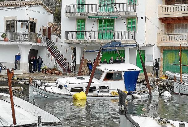 Die Folgen des Sturms in Cala Figuera.