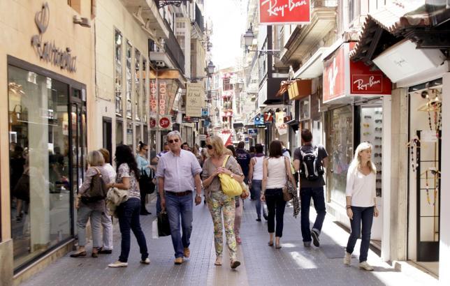 Um Ostern herum ist die Innenstadt von Palma ein beliebtes Shopping-Ziel.