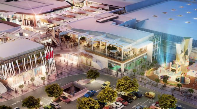 Die Fotomontage zeigt, wie das Einkaufszentrum S'Estada einmal aussehen soll.
