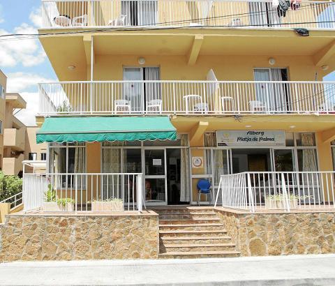 Da war sie noch geöffnet: Die ehemalige Jugendherberge an der Playa de Palma.
