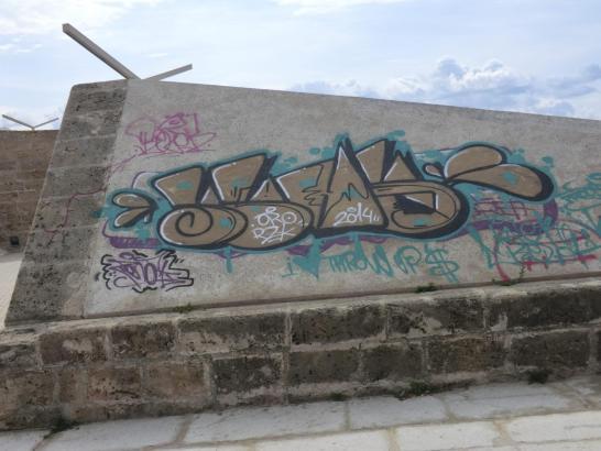 Graffitis an der Baluard del Príncep sollen jetzt entfernt werden.