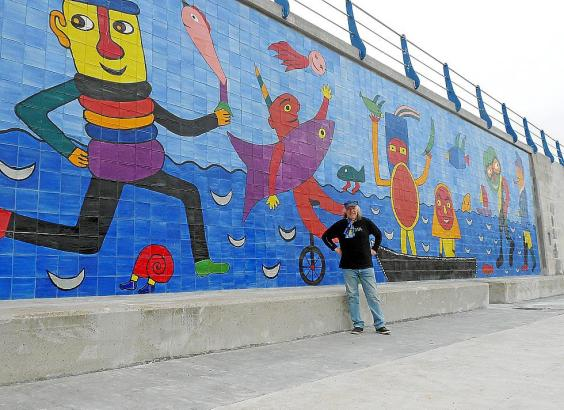 Das neue Wandbild wird am Freitag, 8. Mai, offiziell eingeweiht.