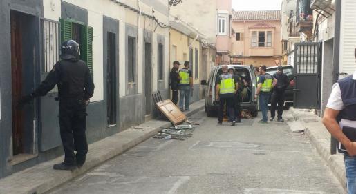 Drogenrazzia in Palma de Mallorca.