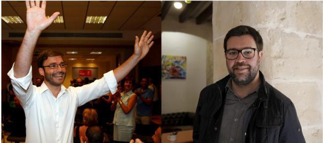 Teilen sich den Bürgermeistersessel: der Sozialist José Hila (l.) und Antonio Noguera von den Öko-Regionalisten Més.