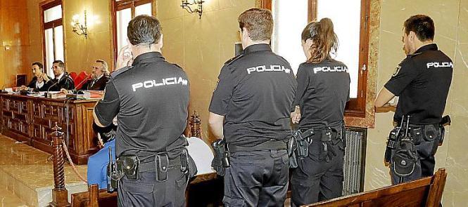 Bei der Verhandlung in Palma de Mallorca.