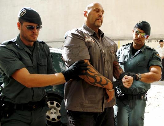 Hanebuth nach seiner Festnahme in Palma.