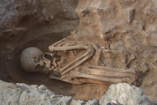 Der Leichnam wurde vor 2500 Jahren in hockender Stellung beerdigt