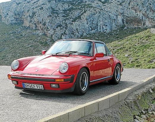 Der Porsche 911 von Elke und Frank Hönsch auf Mallorca. Inzwischen hat das Paar den Wagen wieder zurück nach Deutschland gebrach