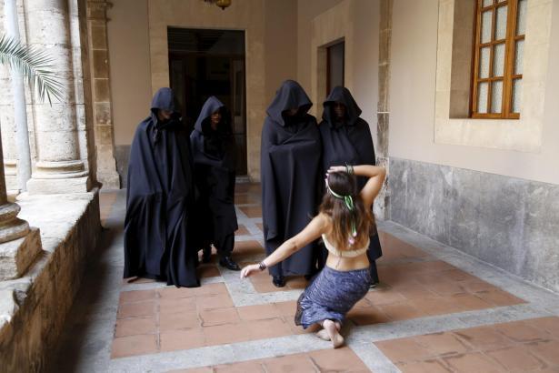 Das Filmteam dreht in Palmas historischem Zentrum